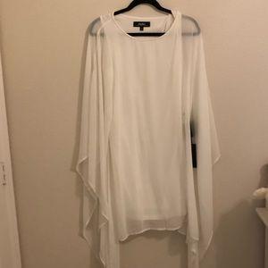 Lulus White Goddess Dress long sleeve